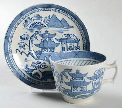 Wood & Sons CANTON BLUE Demitasse Cup & Saucer 1672679