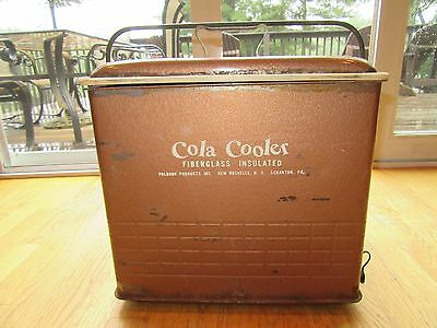 1950's VINTAGE COLA COOLER/POLORON PRODUCTS INC/FIBERGLASS/INSULATED/TRAY/PA!