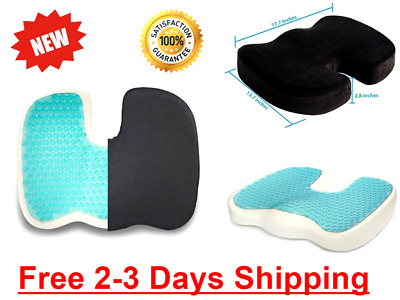 Seat Cushion Gel Pillow Prostate Hemorrhoid Pain Relief Cooling Coccyx Chair XL