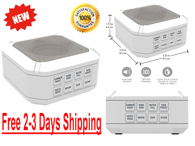Sleep Sound Therapy Machine White Noise Night Sleeping Aid Timer 8 Relax Sounds