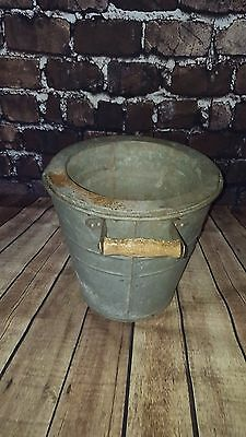 Vintage Galvanised Bucket Flower Planter Pot Display Garden