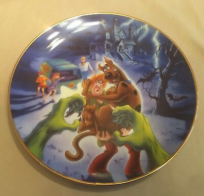 Scooby Doo The Creeps On You Collectible Plate, # Signed By Joe Barbara, NIB