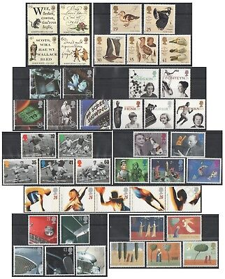 1996 Royal Mail Commemorative Sets MNH. Sold separately & as full year set.