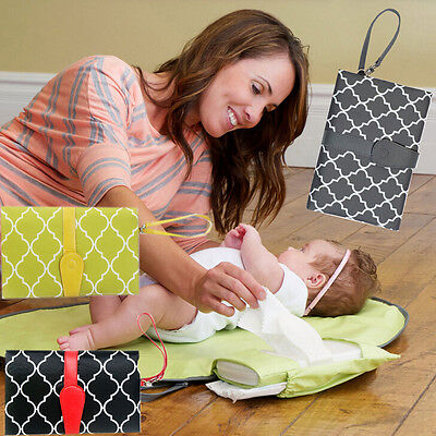 New Baby Portable Folding Diaper Changing Pad Waterproof Mat Bag Travel Storage