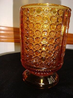 Eapg Richards And Hartley Glass Amber Three Panel Spooner