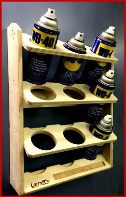 9 Can Aerosol Spray Can Holder and Lube Storage Rack Kit