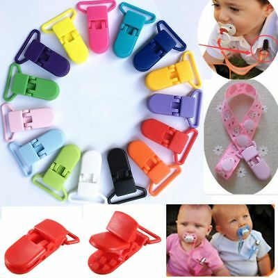 10Pcs Plastic Pacifier Clips Soother Dummy Bib Suspender Paci Toy Holder