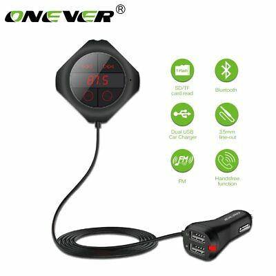 ONEVER Q7S Dual USB Bluetooth Car Kit MP3 Player FM Transmitter 2.5A Output TF