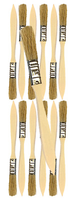 12 Pk- 1/2 inch Chip Paint Brushes for Paint, Stains,Varnishes,Glues,Gesso