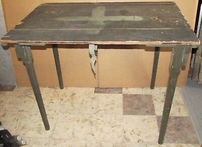 Vintage Orig U.S. ARMY Portable/Fold Up Military Field Table 36 x 24 WWII J0707