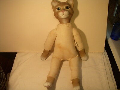Cat Doll Wang's Int'l Resin & Muslim Cloth 23.5""
