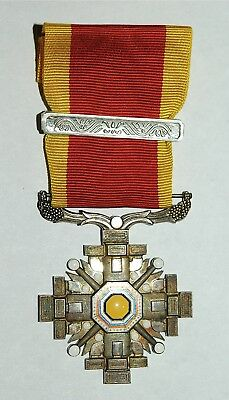 WW2 WWII MANCHUKUO ORDER OF PILLARS OF STATE MEDAL JAPAN 6th - 8th CLASS