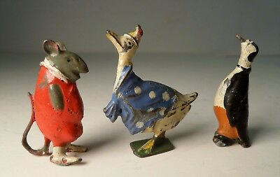 BRITAINS Cadbury's COCOCUBS Lead Figures Mouse, Peter Penguin, Mrs Cacklegoose