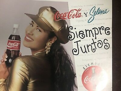 Ultra Rare Selena Coca Cola Point of Purchase Ad.  Poster size