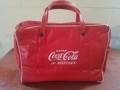 Vintage Coca Cola Cooler ~ Drink Coca Cola in Bottles ~ Vinyl Cooler