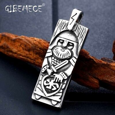 316L stainles steel Legendary The Vikings Odin's Amulet Pendant Necklace Viking