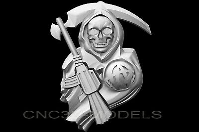 3D Model STL for CNC Router Engraver Carving Artcam Aspire Skull Pano v588