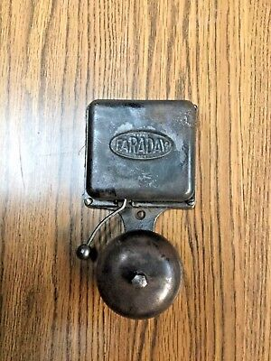 Early Antique Faraday Fire Alarm School Bell Cast Iron -1907