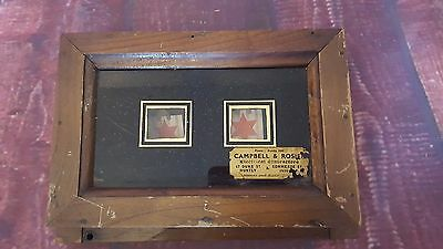 Antique Wooden 2 Window Servant Butler Bell Box Edwardian Original
