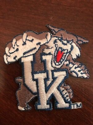 """University Of Kentucky Wildcats Vintage Embroidered Iron On Patch  2"""" X 2"""""""