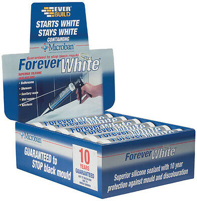 Everbuild Forever White Silicone Sealant C3 Box Of 12 - New