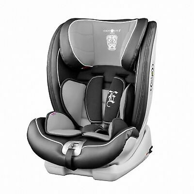 Cozy N Safe Excalibur Group 1/2/3 Child Baby ISOFIX Car Seat - Black/Grey