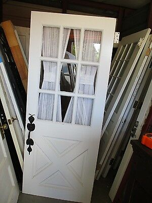 Exterior Wood Door With Criss Cross Barn Style Nice Hardware Key Approx 32 X 78