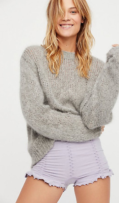 NEW Free People Intimately Ruched Seamless Shorts Heather Plum XS/S & M/L $49.78