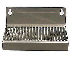 "Beverage Factory DP-117ND Beer Drip Tray 6"" Stainless Steel Wall Mount with No"
