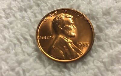 1955-S Lincoln Wheat Centbu Unc Full Wheat Lines From Obw Roll Wow