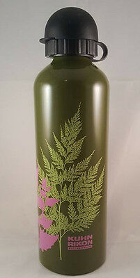 Kuhn Rikon Kitchenware Stainless Steel Water Bottle Green Plant Pattern Preowned