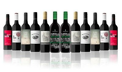 AU Red Wine Mix Featuring Rosemount Meal Matcher Cab Merlot (12x750ml) RRP$199