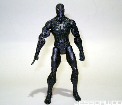 """used 5"""" Black Spider-Man figure from Spiderman 3 film Marvel by Hasbro 2008"""