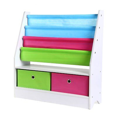 HOMFA Toy Storage Organizer Rack Kids Book Organizer Non Woven Fabric  Storage