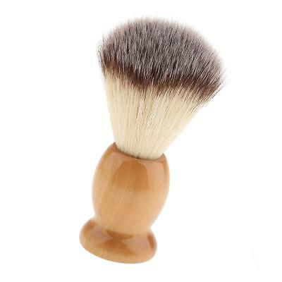 Natural Wooden Handle Salon Facial Grooming Men Shaving Brush Tool