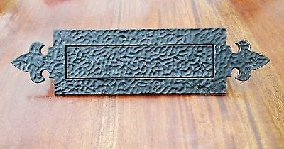Large Reclaimed English Cast Iron Arts & Crafts William Morris Style Letterbox