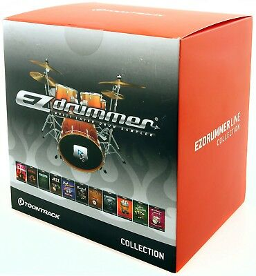 Toontrack EZ Drummer Line Collection 12 Sound Libraries + 49000 Midi Grooves EOL