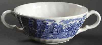 Wood & Sons ENGLISH SCENERY BLUE Cream Soup Bowl 7044147