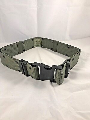 Individual Equipment Pistol Web Duty Belt OD Green Excellent Condition Large