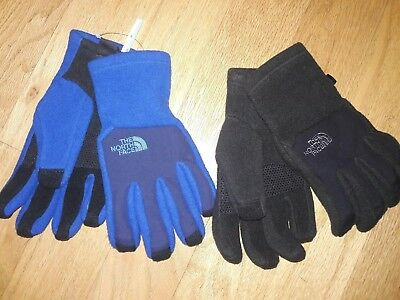 The North Face Youth Denali ETip Glove Size S,M & L color Black or Blue