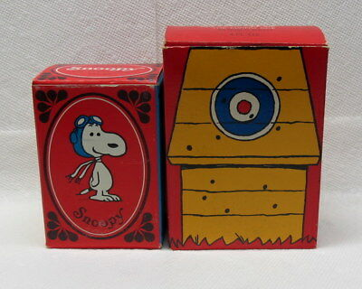 Snoopy Liquid Soap Mug & Snoopy The Flying Ace In Original Boxes New Old Stock