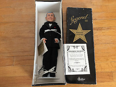 """1996 Effanbee Legend Series King Of Comedy George Burns 16"""" Doll W/tags"""