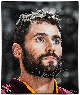 """KEVIN LOVE Autographed """"Up Close & Personal"""" 20 x 24 Framed Canvas UDA LE 25"""