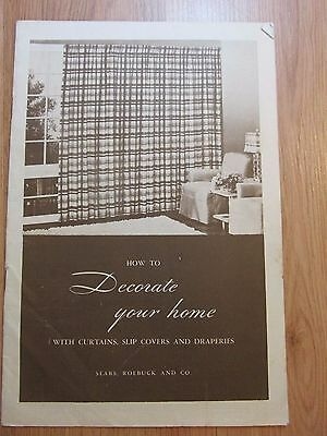 """Vintage 1944 Sears & Roebuck """"How to Decorate Your Home"""" Booklet"""
