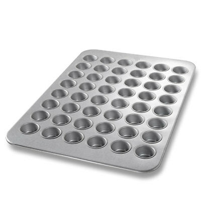 CHICAGO METALLIC 45255 Mini Muffin Pan, 48 Moulds