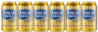 6 Dosen Inca Kola Original 6-Pack Limonade Inka Cola Peru The Golden Cola USA