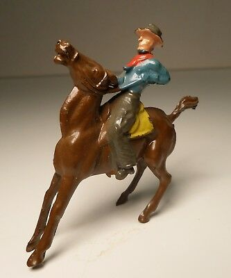 Vintage Lead Figure Cowboy on Horse Made in England Britains Tompo JoHillco