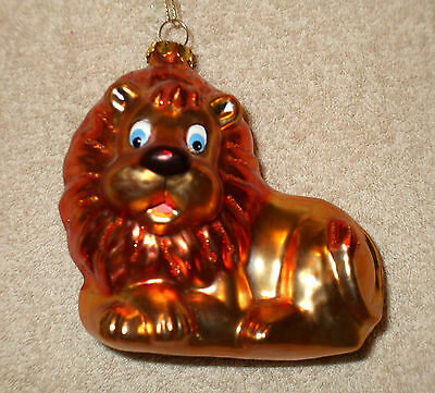 Glass LION Christmas Ornament - NEW