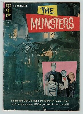 The Munsters 13 silver age TV series photo cover Gold Key 1967 low grade Cheap