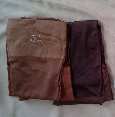Vintage Womens Pure Silk Service Stockings Early 1930s  Sz 9.5, NOS